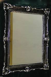 Wandspiegel Silber Antik : wandspiegel schwarz silber antik barock gro er spiegel 90x70 badspiegel 3057ss kaufen bei ~ Watch28wear.com Haus und Dekorationen
