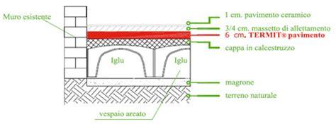 vespaio pavimento termit sottofondo per la corretta traspirazione delle