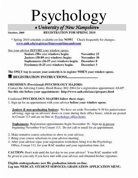 Psychology Resume Template by 13 Undergraduate Psychology Resume Collection Resume