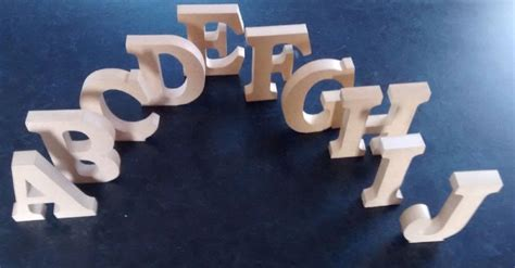 standing wooden letters home decor  large mdf