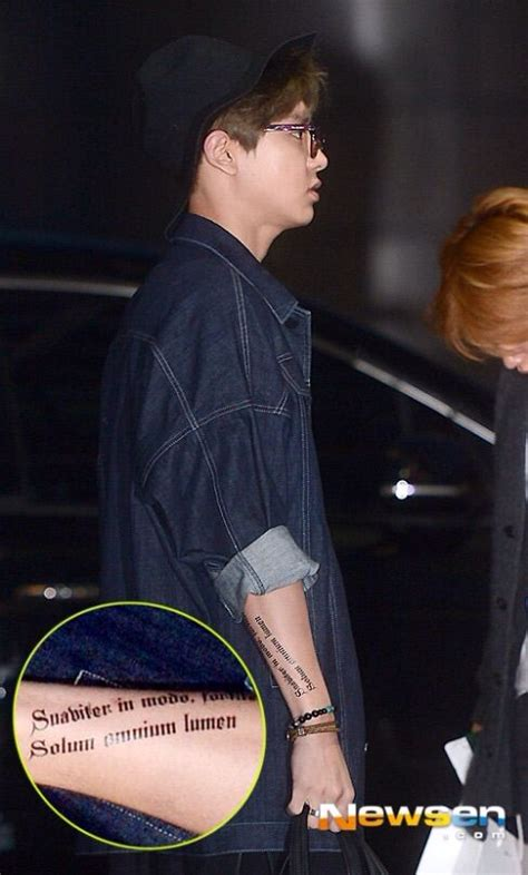 chanyeols tattoos real  fake  pop amino