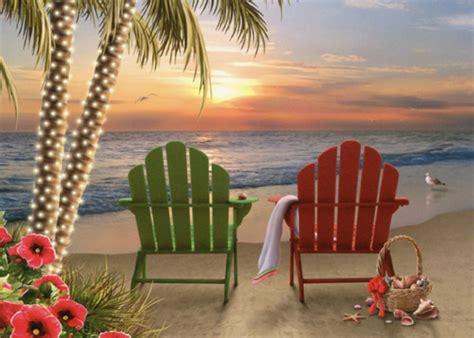 adirondack chairs alan giana christmas card  lpg