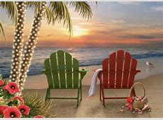 Two Adirondack Chairs Alan Giana Christmas Card by LPG