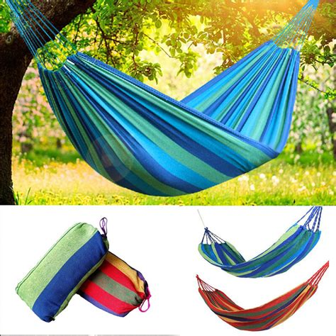 Hammock Canvas by Portable 2 Person Cotton Rope Hanging Hammock Swing Fabric