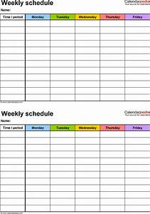 weekly schedule template for excel version 3 2 schedules With 3 day calendar template
