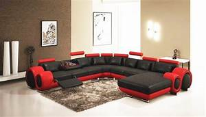 2018 red and black leather sofas a striking and With red and black leather sectional sofa