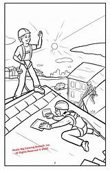 Roof Coloring Masters Activity sketch template