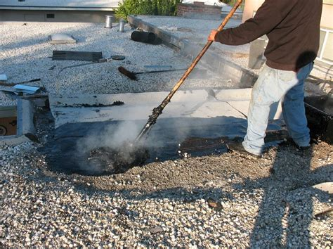 Roofing Tar & Step 1  Removing The Old Tar And Gravel