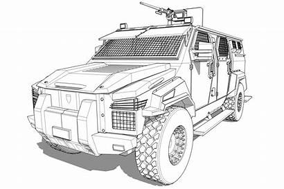 Swat Coloring Pages Truck Printable Drawing Armored