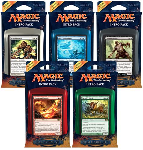 Mtg Intro Decks Theros by Magic 2014 Intro Pack Set Magic The Gathering