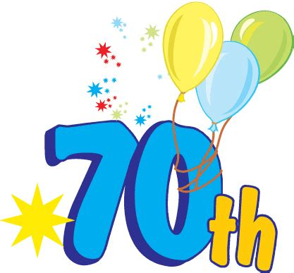 large 70th birthday anniversary number happy anniversary clipart cliparts co cards and