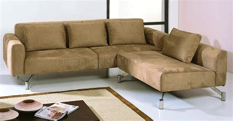 Contemporary Microfiber Sectional Sofa by Saddle Brown Microfiber Contemporary Sectional Sofa
