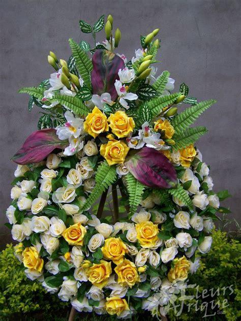 couronne mortuaire album  fleurs dafrique