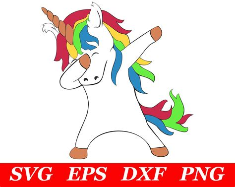 Dabbing Unicorn Svg Cricut Silhouette File Dab Unicorn