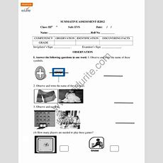 Class 3 Cbse Evs Question Paper Term 2 2012