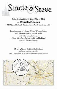 stacie39s wedding directions to the church With wedding invitations church address