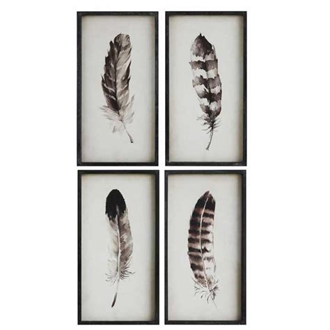 canisters kitchen decor framed feather prints set 4