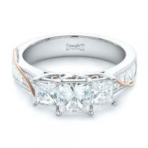 wedding rings for princess cut custom princess cut engagement ring 102272