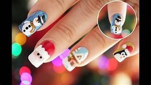 decoración de uñas navidad muñeco de nieve snowman nail