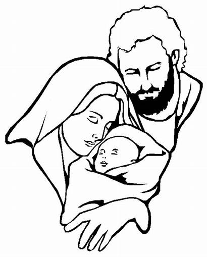 Coloring Christmas Pages Religious Mary Jesus Bible