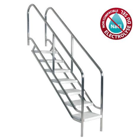 escalier inox pour piscine escalier inox ajustable acc 232 s facilit 233 et s 233 curis 233 224 la piscine piscine center net