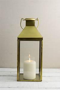 Metal Lantern Gold 5 5x14in