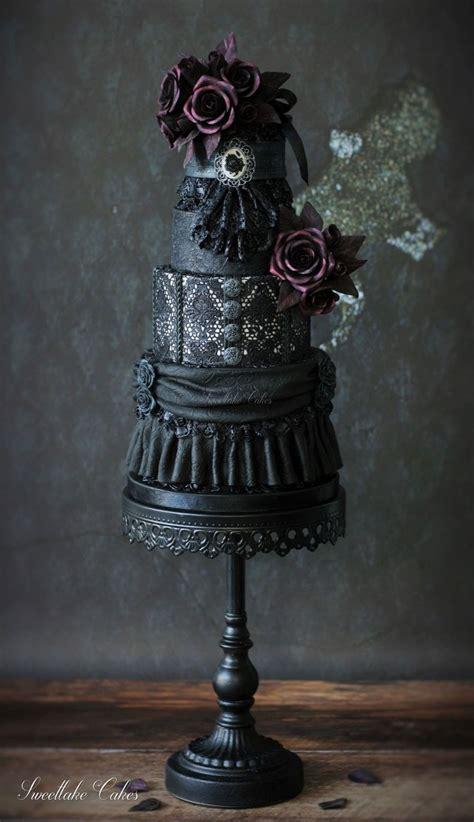 black gothic wedding cake cakecentralcom