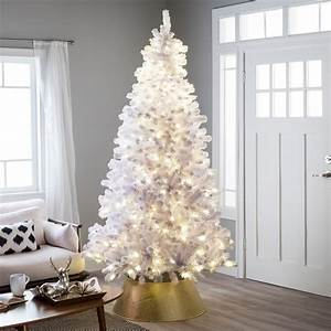 Belham, Living, 7, 5ft, Pre-lit, Artificial, Christmas, Tree, With, Clear, Lights, -, White
