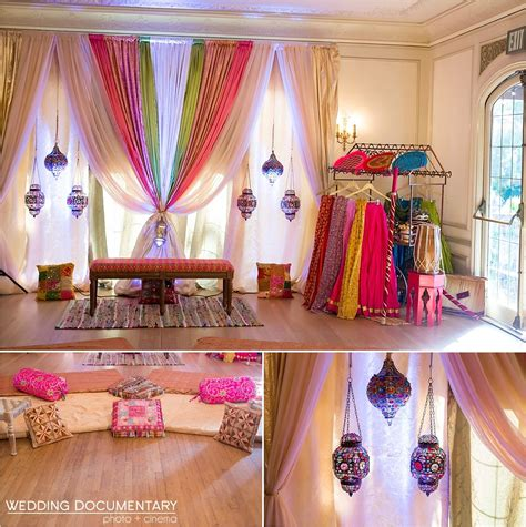 mehndi  sangeet event decorations indian inspired