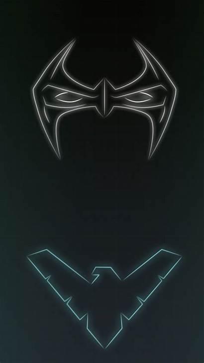 Nightwing Neon Superhero Dc Wallpapers Comics 1080