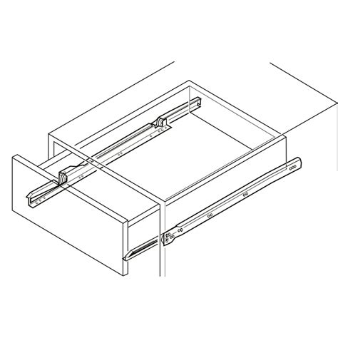 Hafele Cabinet Hardware New Zealand by Hafele Soft Roller Drawer Runner 350mm White 2pk