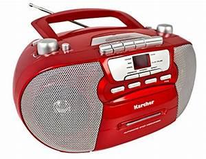 Cd Kassetten Radio : karcher rr 5040 oberon tragbares cd radio am fm radio cd ~ Kayakingforconservation.com Haus und Dekorationen