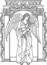 Coloring Angel Pages Adult Adults Printable Angels Christmas Colouring Books Stitch Rocks Sheets Coloriage Drawings Drawing Print Colorful Getdrawings Guardian sketch template