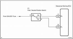 Toyota Sienna Service Manual  Park    Neutral Position Switch Circuit - Adjustment