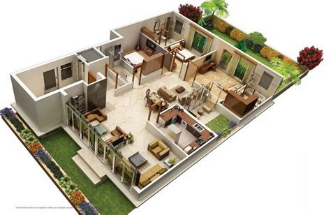 31 Awesome Villa Floor Plan 3d Images