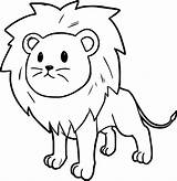 Lion Coloring Pages Colouring Printable Cartoon Getcolorings Colorings sketch template