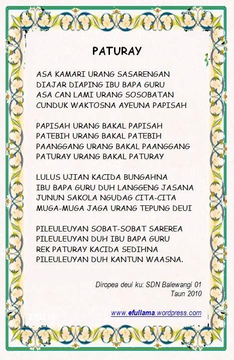 lagu pileuleuyan pidato kepala sekolah efullama