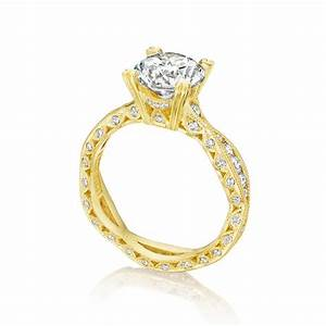 Tacori engagement rings gold diamond twist setting for Wedding rings tacori