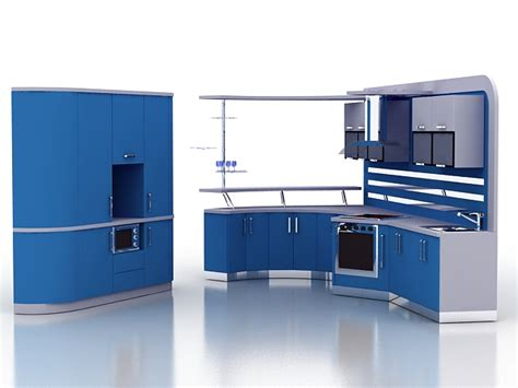 3d kitchen cabinet design modern blue kitchen cabinets 3d model 3ds max files free 3886