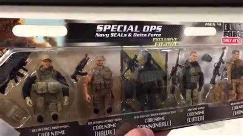 elite force special ops navy seals delta force  pack military action figures toy review