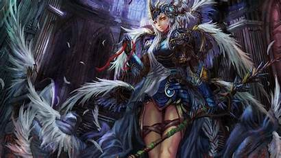 Valkyrie Wallpapers Honor Anime Artwork Norse Viking