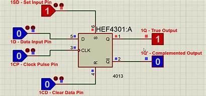 Flip Ic Flop Datasheet Proteus Circuit Diagram