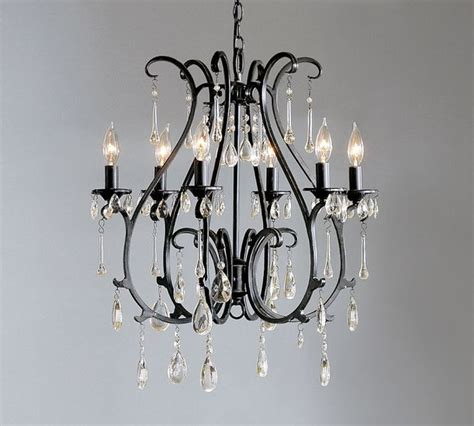pottery barn celeste chandelier celeste chandelier blackened finish