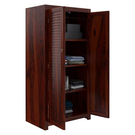 Large Wardrobe With Shelves by Celoron Louvered Large Rustic Solid Wood Wardrobe Armoire
