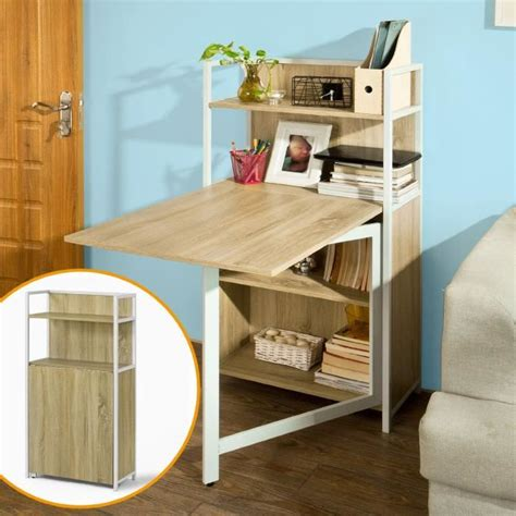 bureau pliable mur table pliante armoire avec table pliable intégrée table