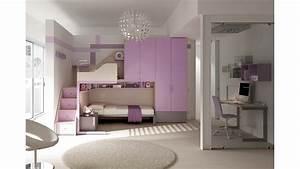 Chambre Pour Ado : chambre enfant pour fille studieuse fun moretti compact so nuit ~ Farleysfitness.com Idées de Décoration