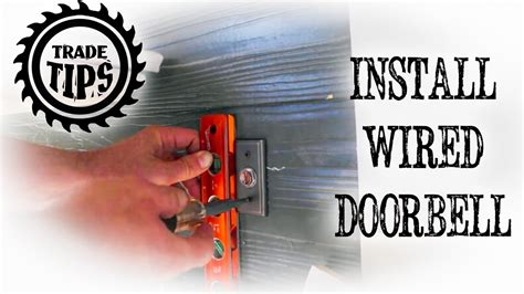 install  hardwire  doorbell circuit trade tips youtube