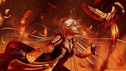 Phoenix Fantasy Bird Elf Witch Doctor Firebird