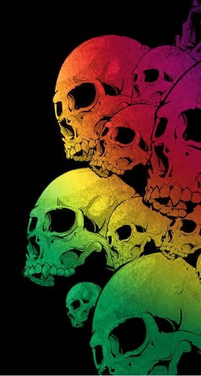 Skull Iphone Wallpaperaccess Skulls Colorful Wallpapers