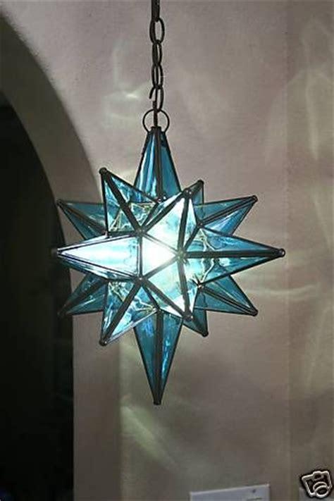 blue moravian pendant light fixture for sale on